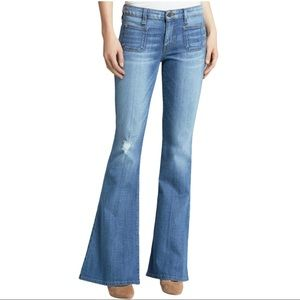 Guess 70s Mid Rise Flare Blue Jeans 29